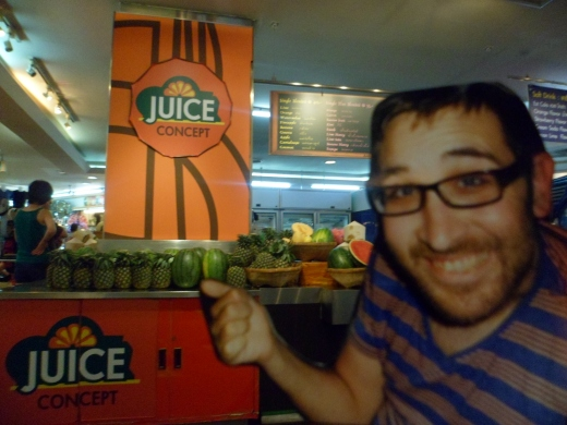 His favourite juice bar.  i used to have to run back and forth here, buying 3 at a time to take back to the hotel cos it was teh only thing he could eat at one point.