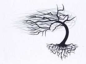 My tattoo I designed from a willow tree in Mike's backyard